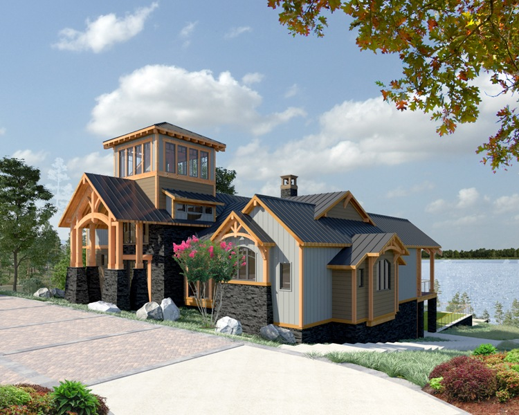 Timber Frame House Near Lake Livingston